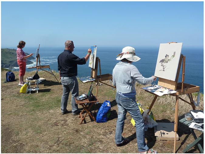 Painting at Botallack Mines,Cornwall