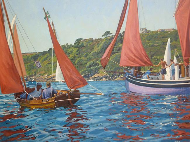 Red sails, Mousehole Regatta